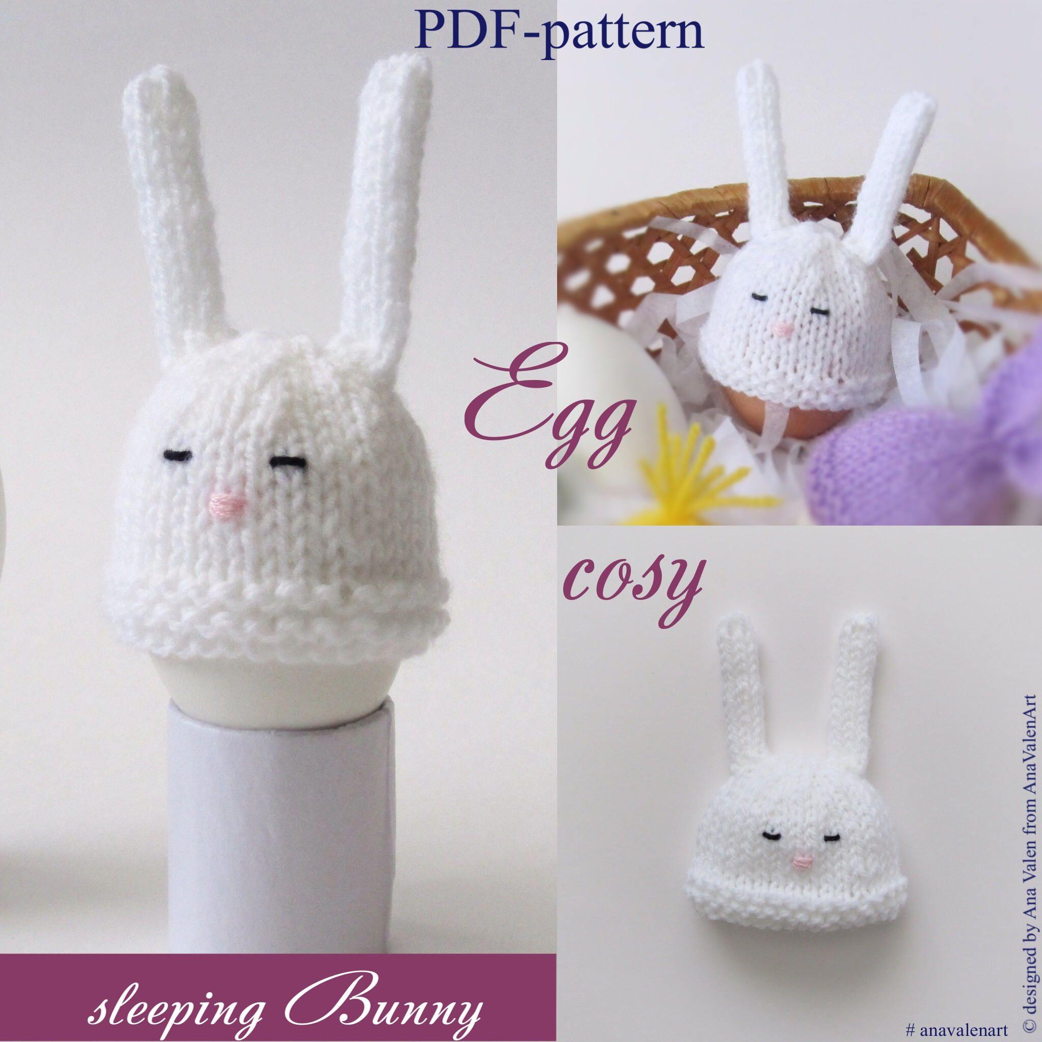 Knitting Pattern Egg cosy PDF-pattern Easter ornament Egg cozy PDF ...