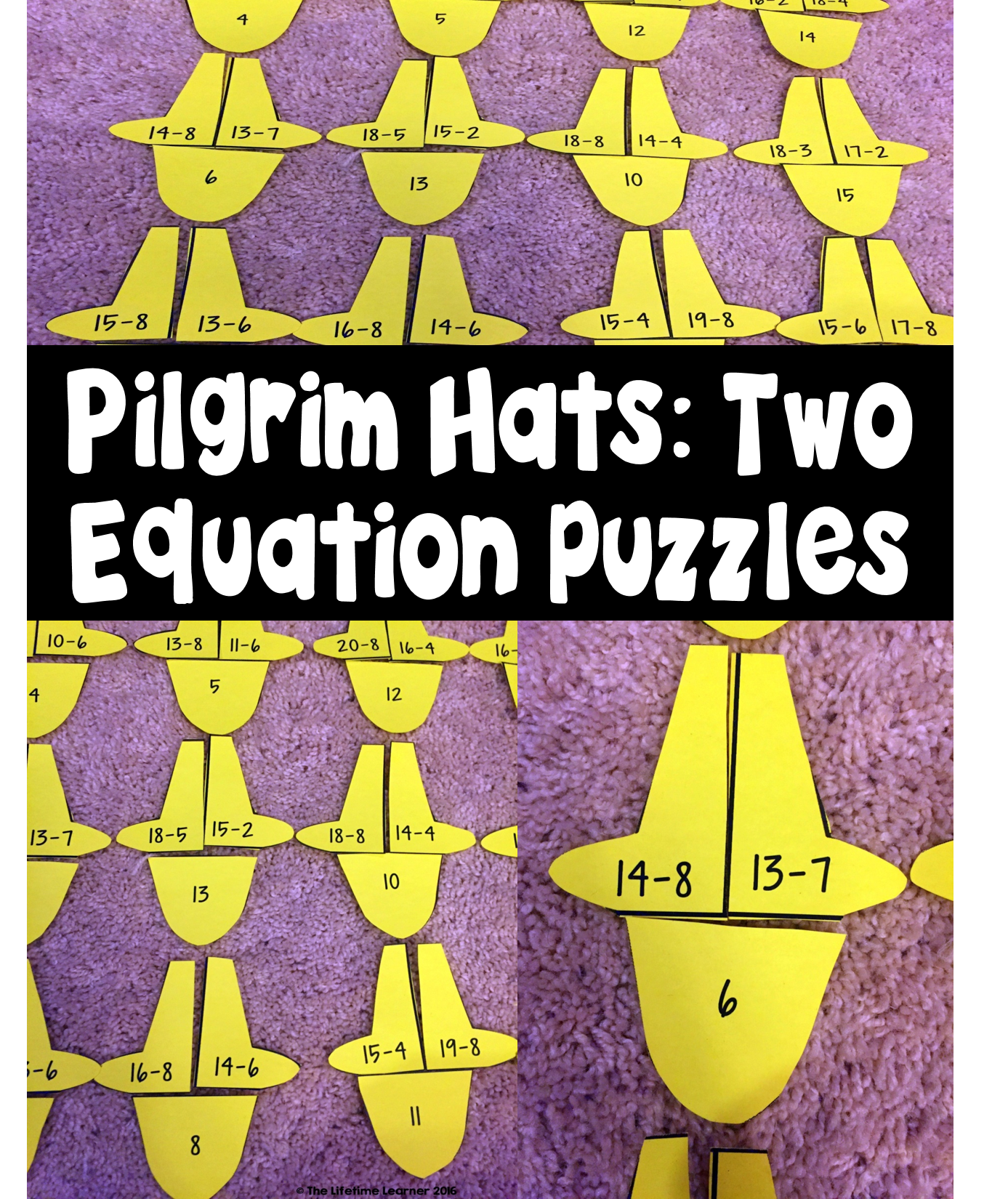 Thanksgiving Subtraction Math Puzzles