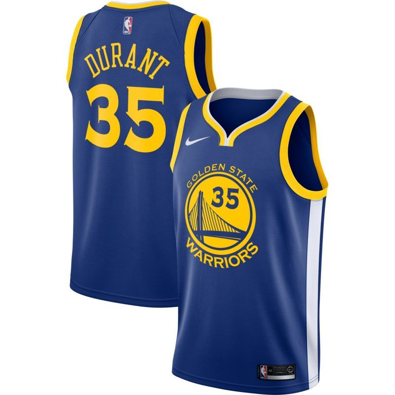 cb36659aeb6 Nike Youth Golden State Warriors Kevin Durant  35 Royal Dri-FIT Swingman  Jersey