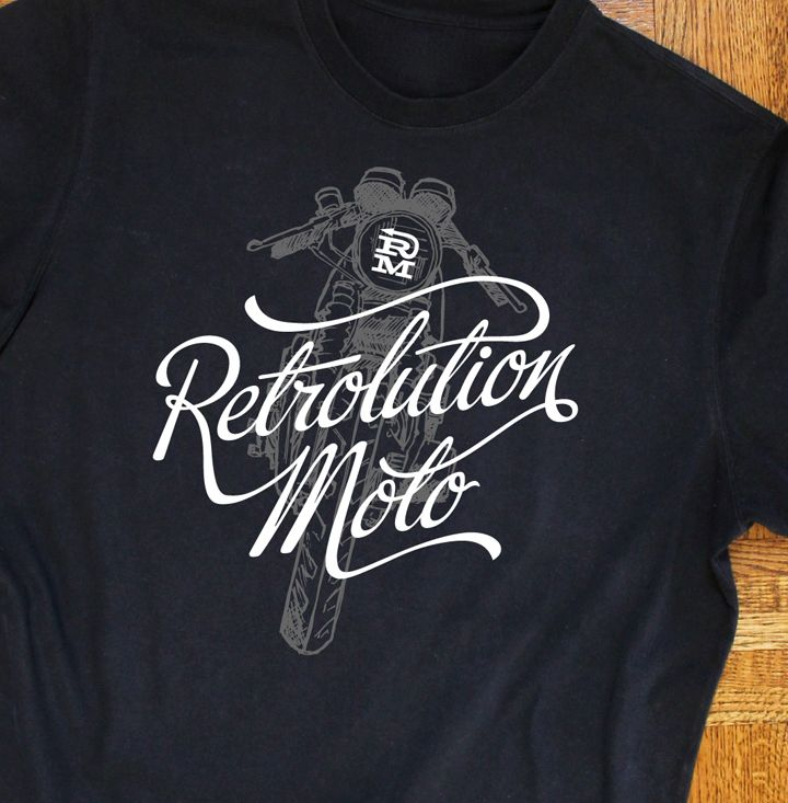 custom, vintage and retro motorcycle themed t-shirts