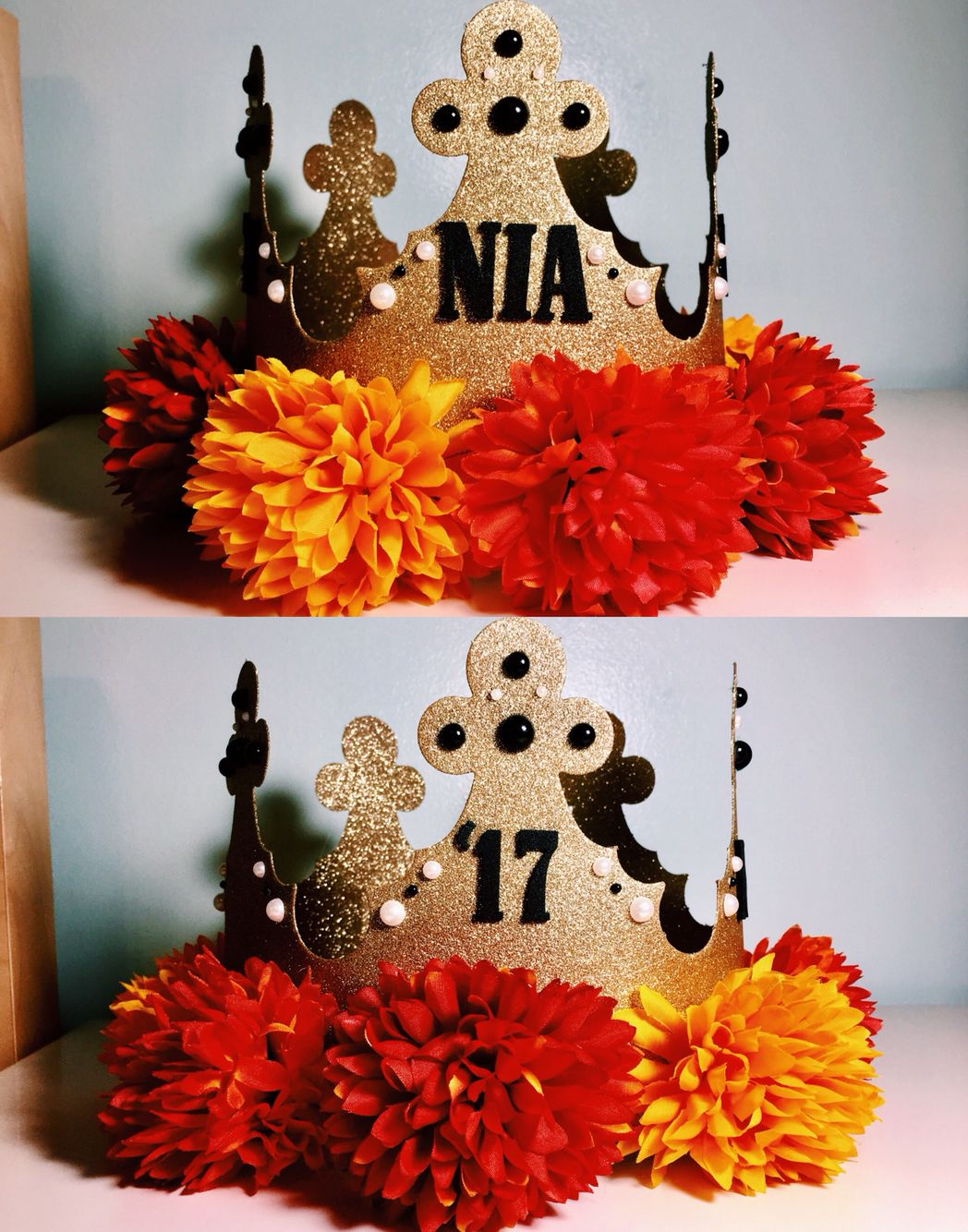 My DIY senior crown! All products purchased from Michael's Craft Store. Free c…