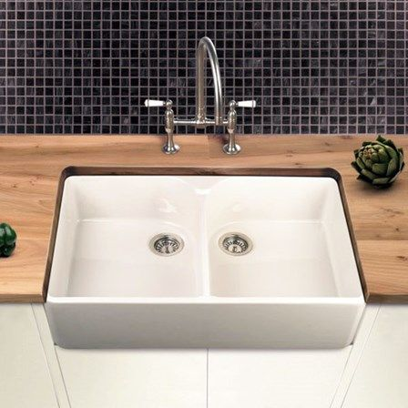 Villeroy & Boch Farmhouse 80 White Ceramic Double Bowl Belfast Sink ...