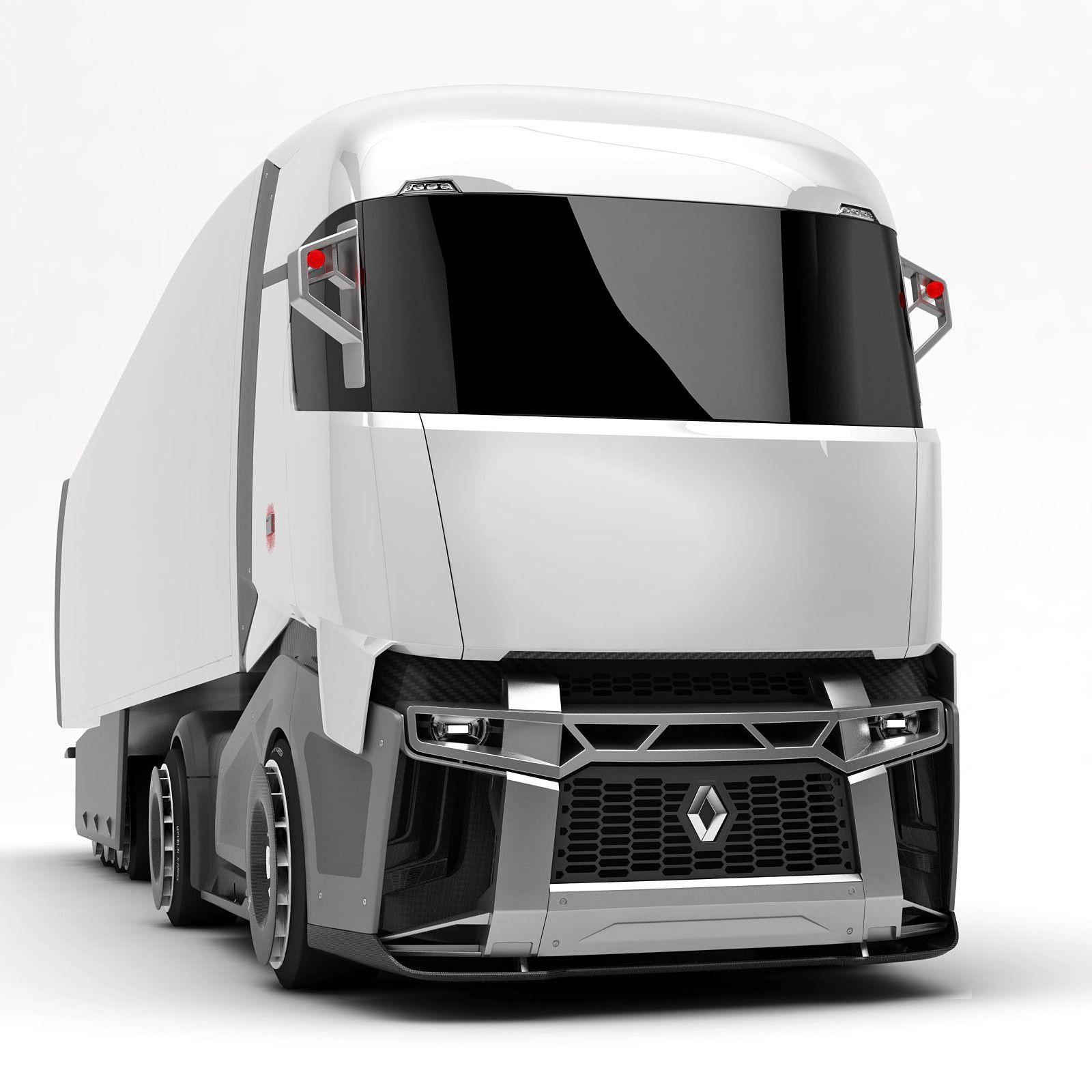 Renault Cx 03 Concept Truck 3d Model