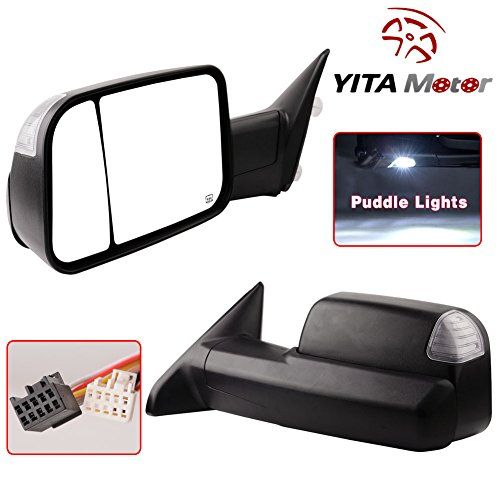 Dodge Towing Mirrors For 0912 Dodge Ram 1500 2500 3500 Truck Mirrors Pair Set Power Heated Flipup Led Puddle Towing Mirrors Automotive Solutions Truck Mirror