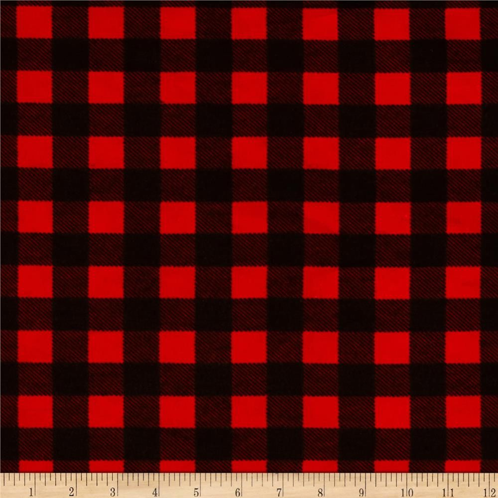 Flannel Buffalo Plaid Red Black Fabrics Buffalo Plaid