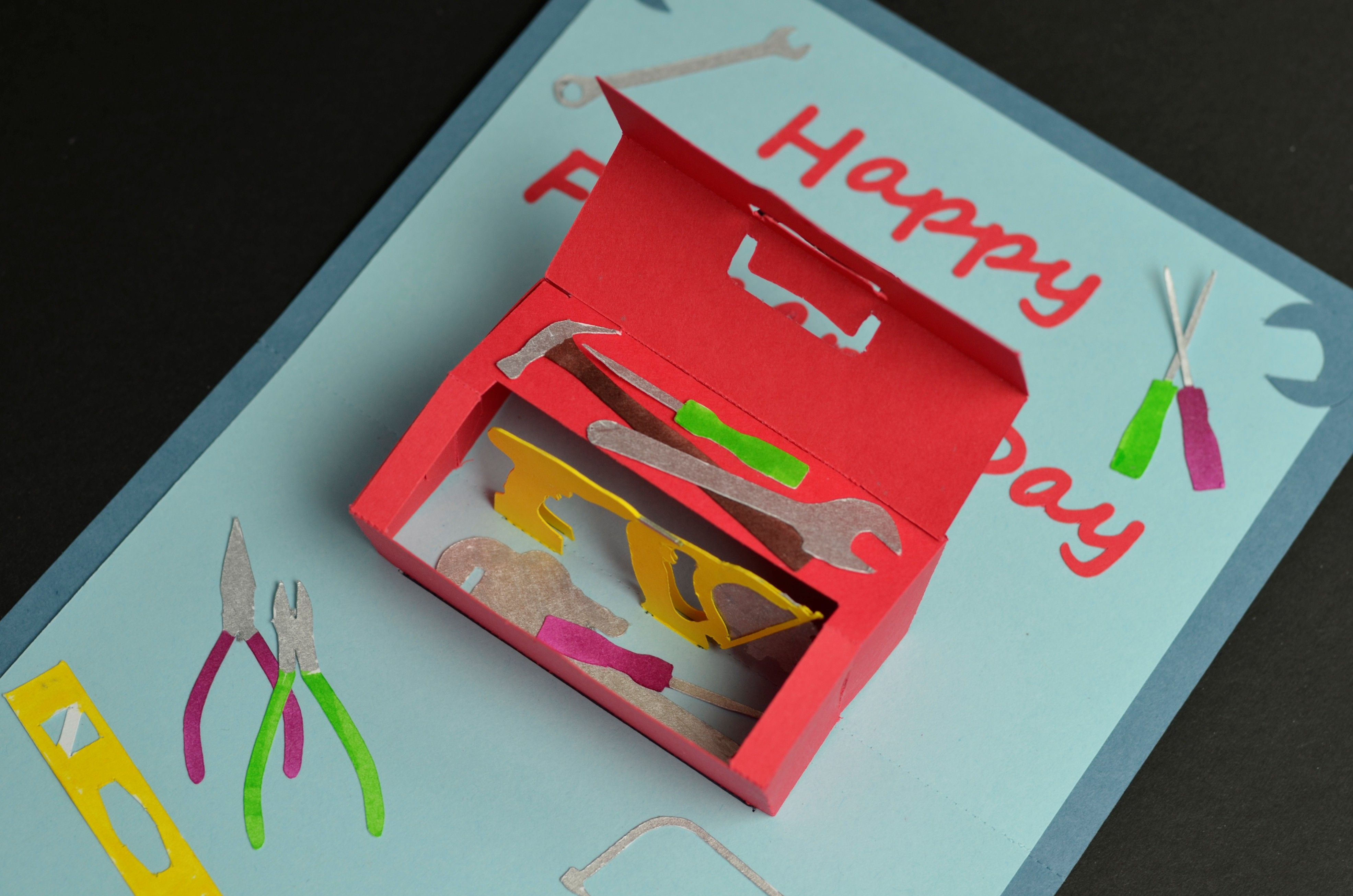 Toolbox Pop Up Card Template Pop Up Card Templates Pop Up Cards