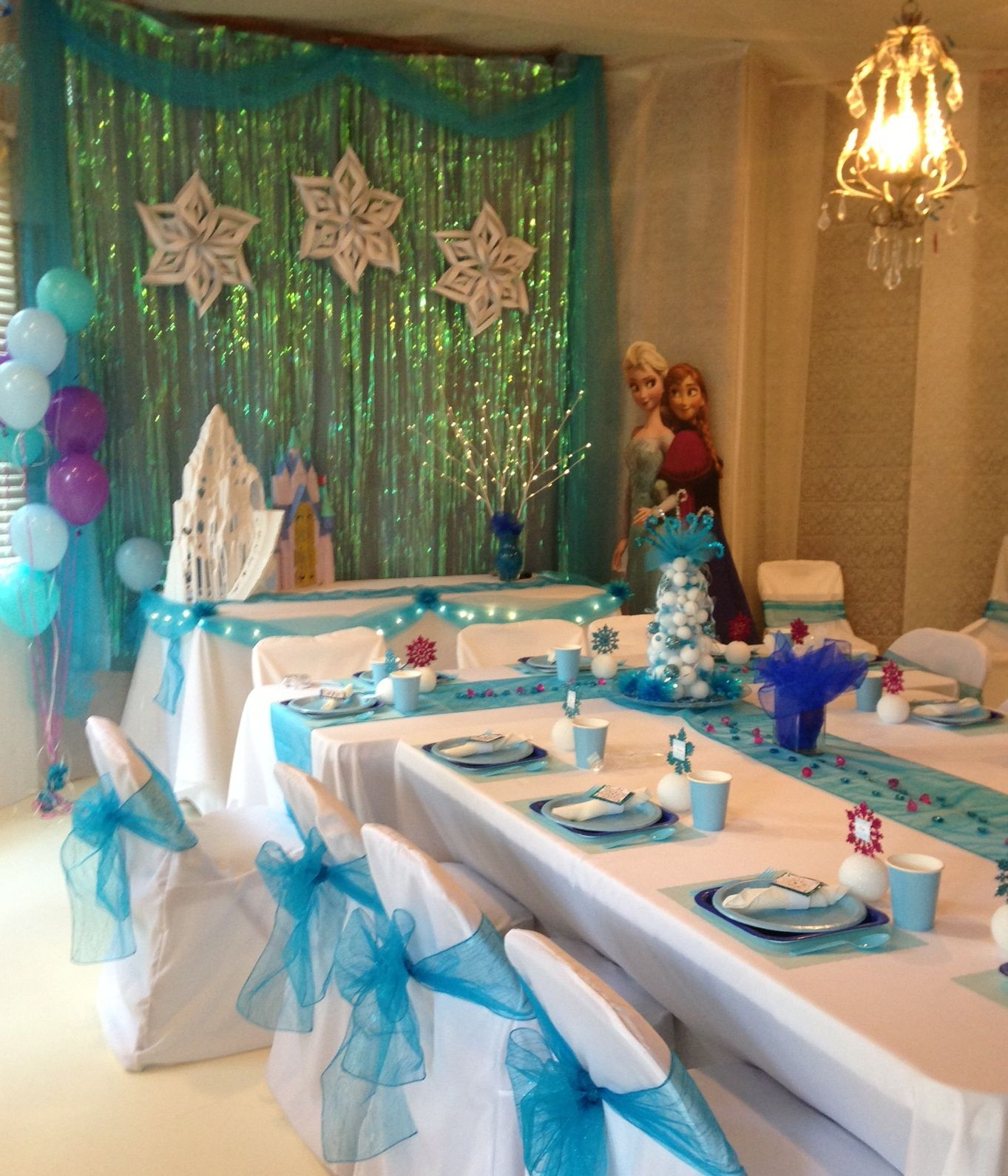 Disney Frozen Party with Stand Up Elsa and Anna ...