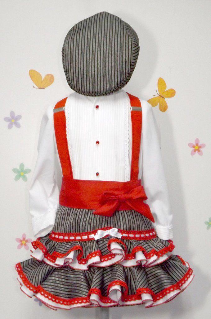 a5a366d62 Traje de gitana flamenca camisa y falda campera gtn160 MiBebesito
