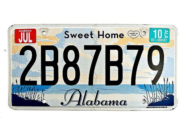 Alabama - original Nummernschild