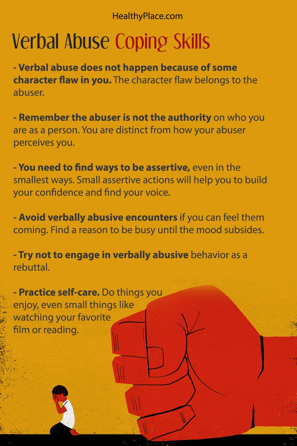 verbal abuse coping skills for when you can't just leave | abuse