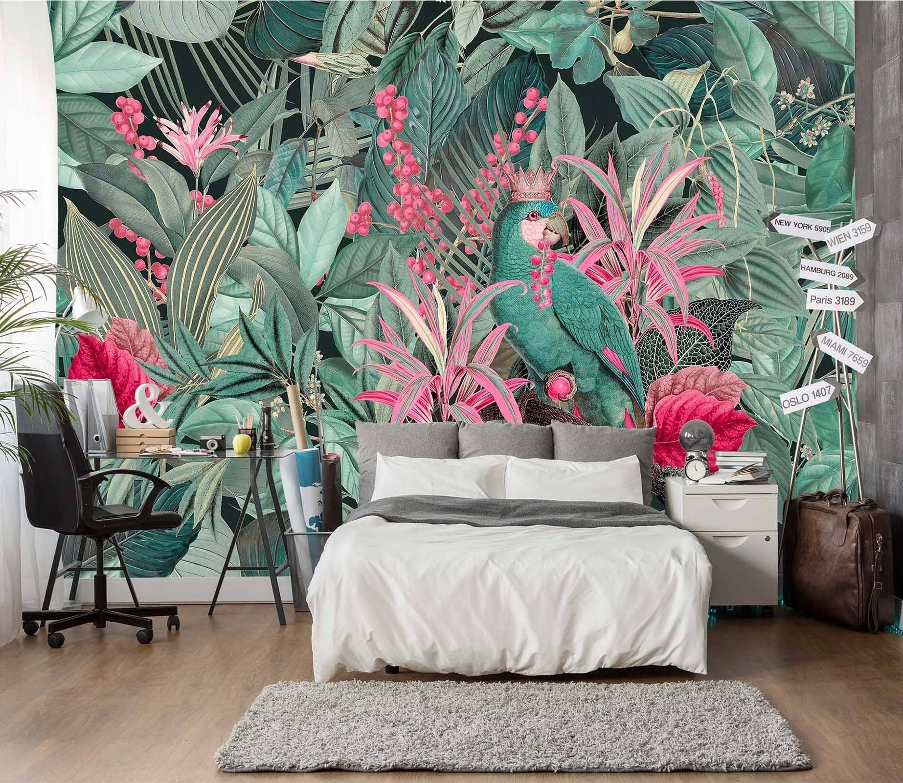 3D Forest Flowers 1003 Andrea haase Wall Mural Wall Murals Dai