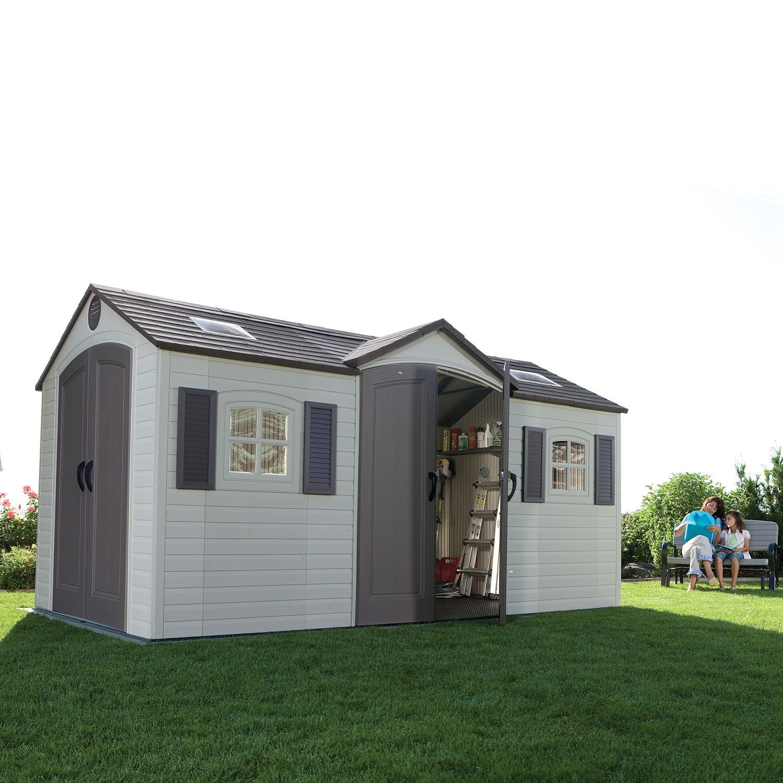 Ordinaire Lifetime Dual Entry Outdoor Storage Shed   8u0027 X 15u0027   Samu0027s Club