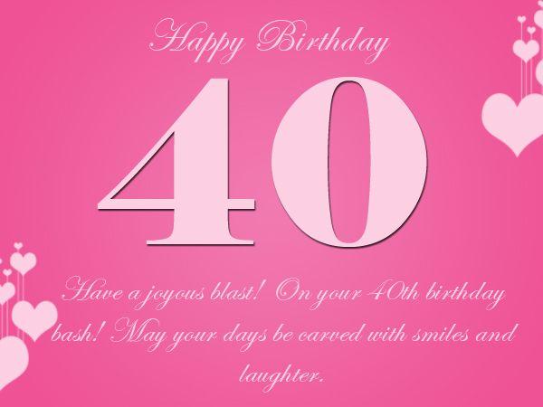 inspirational40thbirthdaygreetingsjpg 600 450 – Happy 40th Birthday Greetings