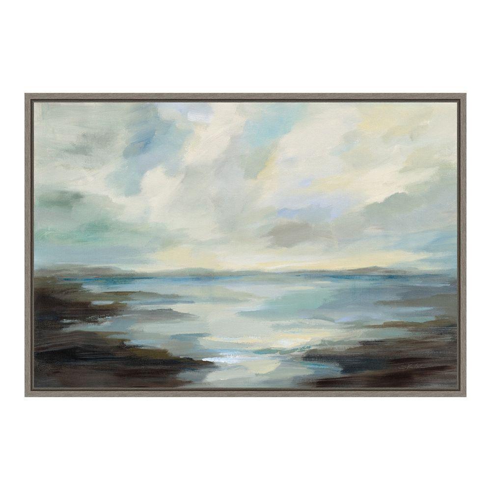 Amanti Art Northern Lagoon Framed Canvas Wall Art Framed Canvas Wall Art Canvas Wall Art Canvas Frame