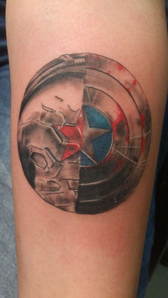 My Captain America And Winter Soldier Tattoo 3 Marvel Tattoos