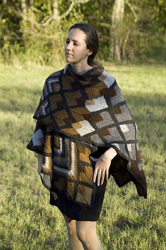 Ravelry: Natural Alpaca Ruana pattern by Annie Modesitt | Domino ...