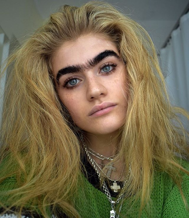 The unibrow is certainly a bold look. It really calls ...