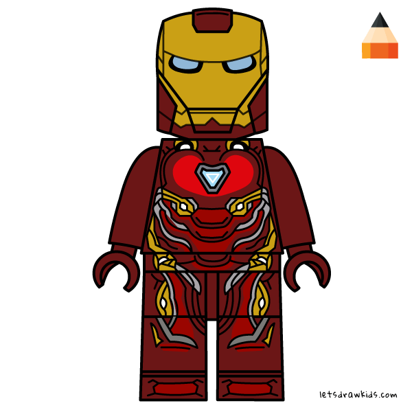 How To Draw How To Draw Lego Iron Man Art Drawing For Kids Lego Iron Man Avengers Coloring Avengers Coloring Pages