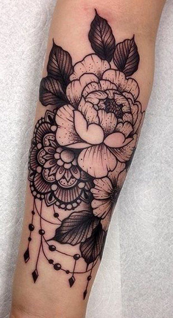 Rose Arm Sleeve Tattoo - MyBodiArt.com