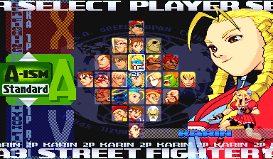 street fighter characters select