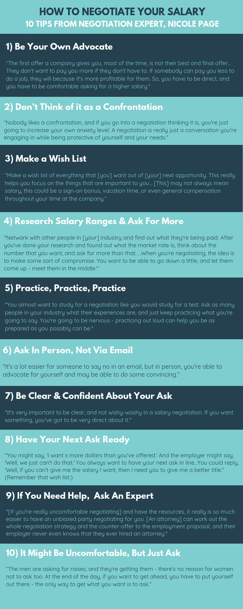 Ten Tips On Salary Negotiation Salary Careeradvice Career Careertips Negotiating Salary Salary Negotiation