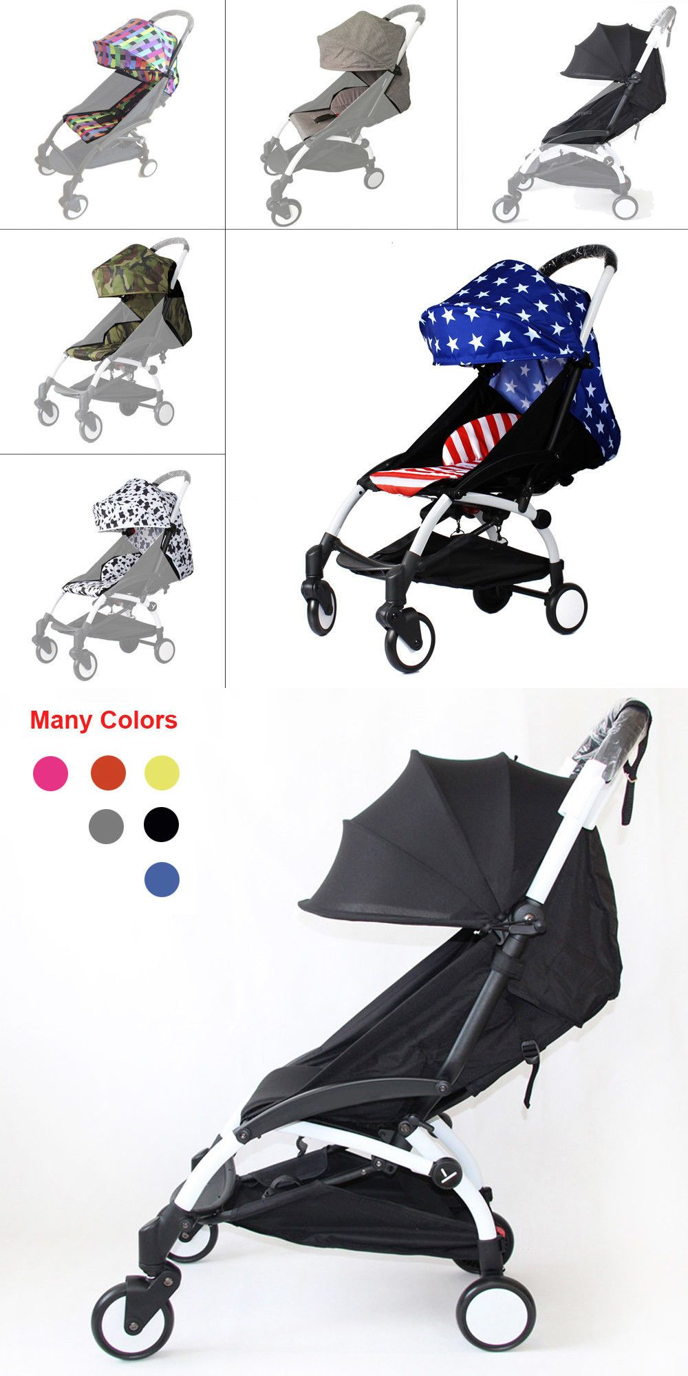 Compatible Color Pack Canopy and Seat Pad Set For BabyZen