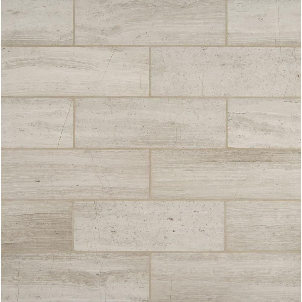 Ms international white oak 4 in x 12 in honed marble floor and ms international white oak 4 in x 12 in honed marble floor and wall tile 2 sq ft case gray doublecrazyfo Image collections