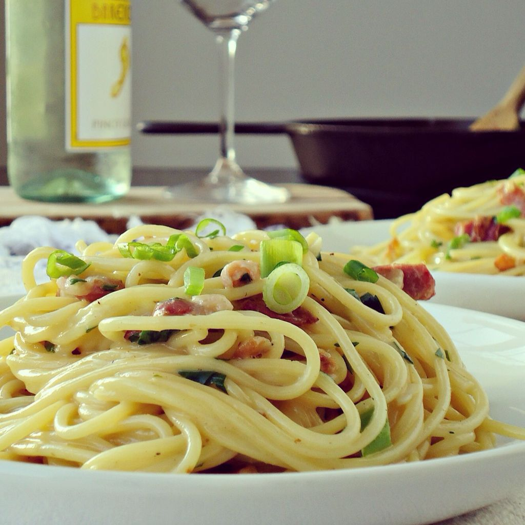 Spaghetti Carbonara is creamy and comforting and it can be made in less than 30 minutes. Perfect for those days when you are too hungry and too lazy to cook.