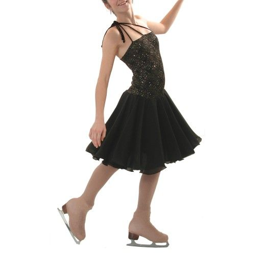 2455 - Triple-Strap Skating Dress with Chiffon Dance Skirt | Blades ...