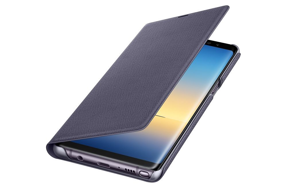 Samsung Galaxy Note 8 Led View Wallet Cases Covers Orchid Gray Casescovers Samsung Galaxy Note 8 Galaxy Note 8 Wallet Case