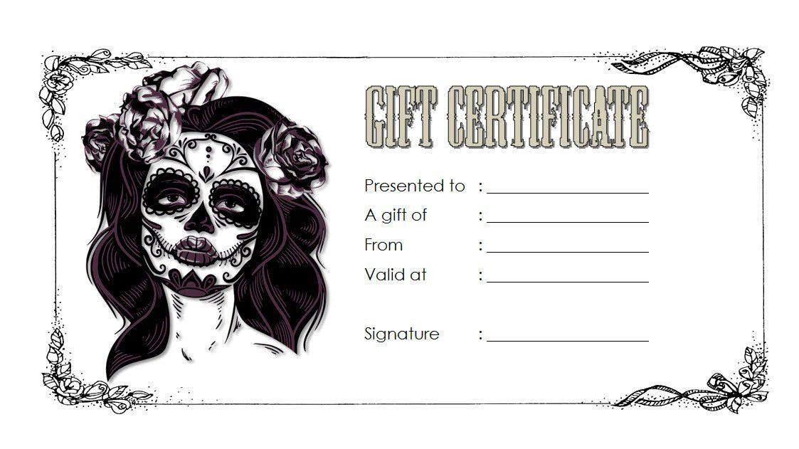 Tattoo Shop Gift Certificate Template Free 3 En 2020 Regalos In Tattoo Gift Certificate Templa Gift Certificate Template Gift Card Template Gift Certificates