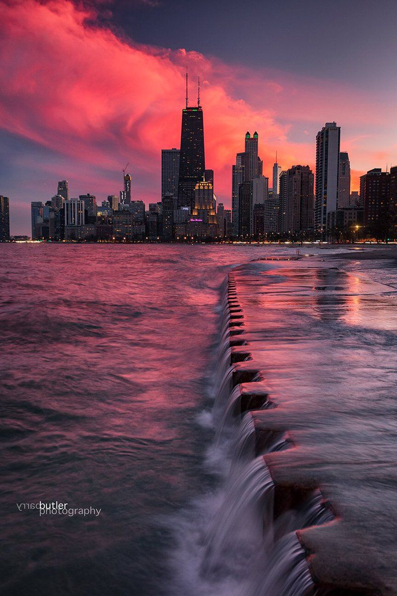 Winter Sunset Chicago Chicago Photography Chicago Aesthetic Chicago City
