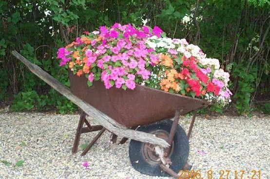 Wheelbarrow Planter Ideas Wheelbarrow By Bettye Wheelbarrow