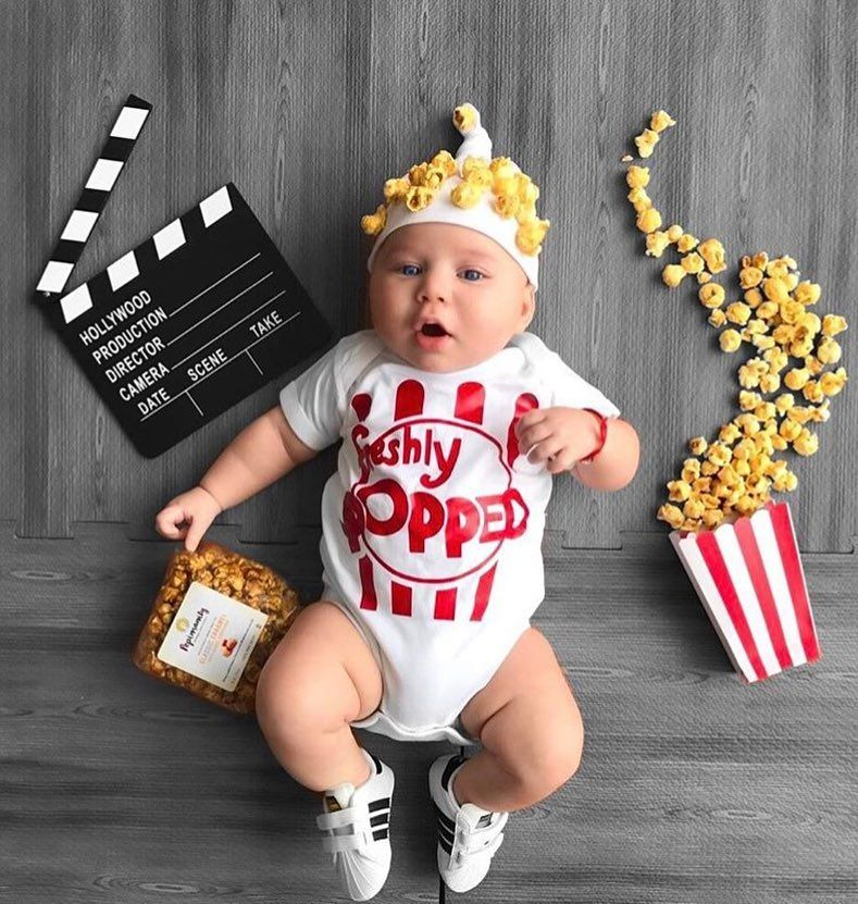 558f35118f84 Popcorn Baby Outfit with Hat
