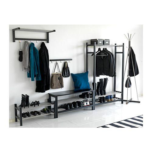 Tjusig étagère à Chapeaux Noir Rangement Chaussures Ikea
