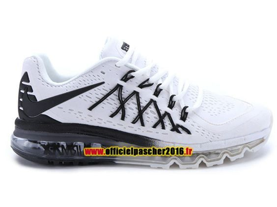 Nike Air Max 2015 Chaussures Nike Running 2016 Pas Cher Pour Homme Noir /  Blanc