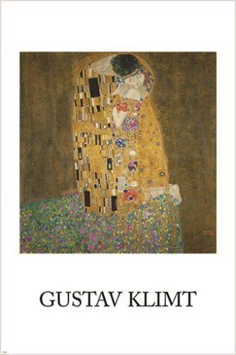 THE KISS gustaf klimt VINTAGE art poster DELICATE 24X36 FAMOUS PAINTING