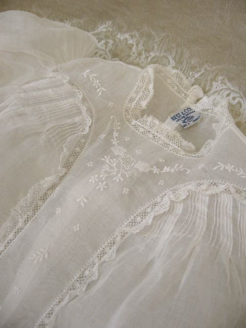 Vintage French Christening Gown Beautiful Baby