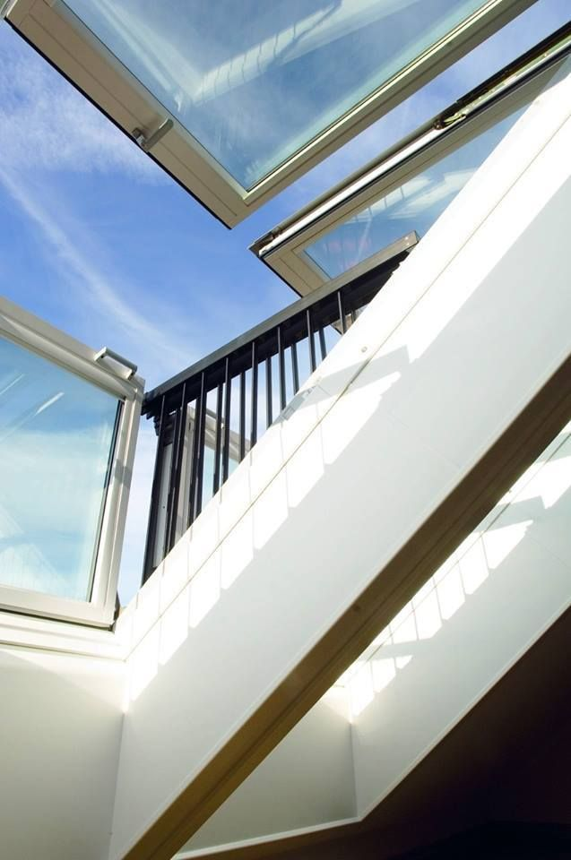 If You Ve Got The View Really Enjoy It With A Gentle Push The Velux Cabrio Turns From A Roof Window Into A Balcony Roof Window Loft Inspiration Roof Design