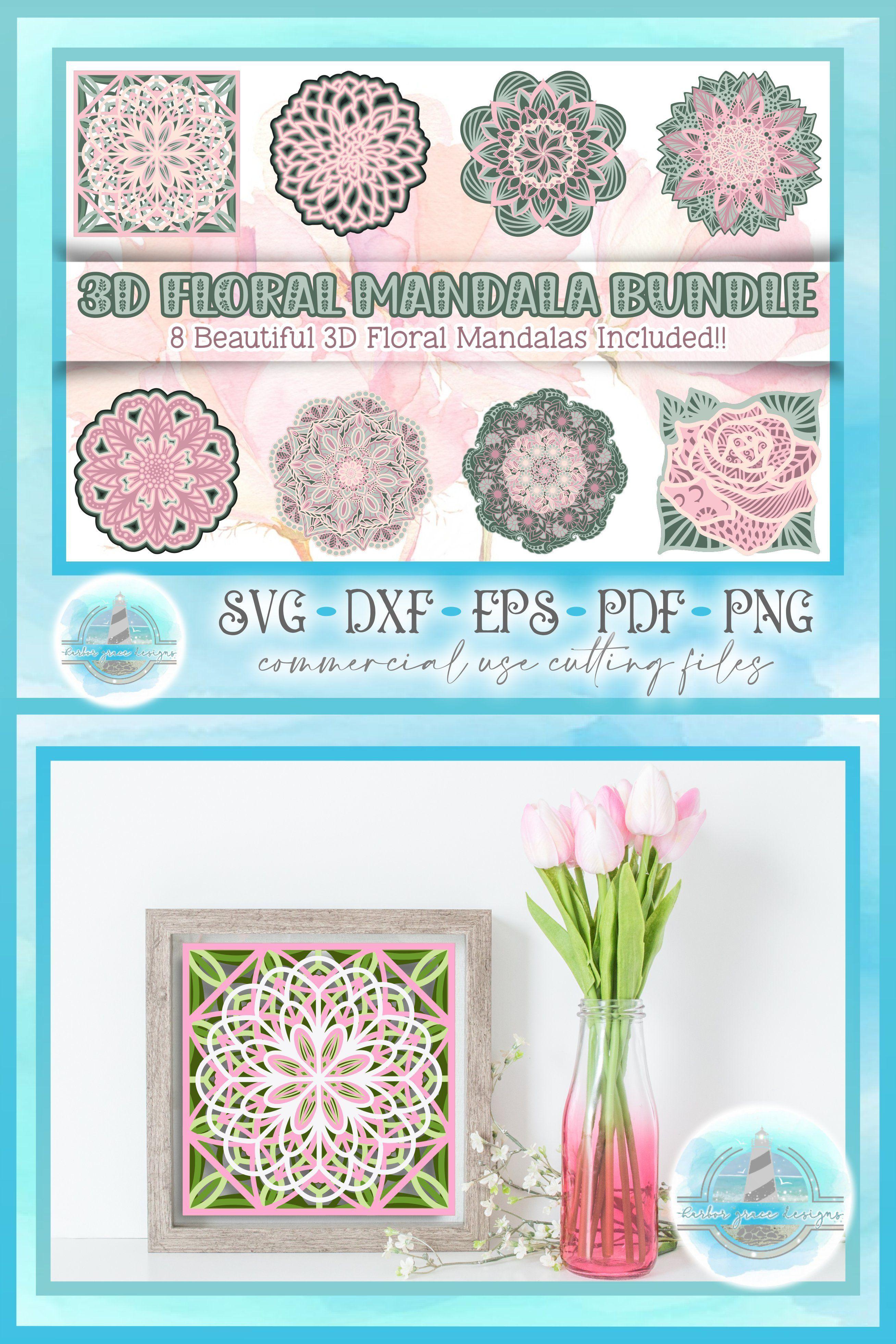 png. PDF Flower Stack Cut File SVG