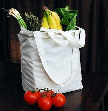 "Ideal for grocery shopping and transporting everyday items. These two-handled gusseted bottom bags are durable, lightweight, and fold into a tiny compact size. Made from 100% cotton muslin.  You can easily carry several bags at once. Perfect for stitching or painting your favorite food and drink designs.  The bag is 14.5"" H x 17"" W x 6.5"" D, handles 25"" loop. #stitching #needlework #embroidery"