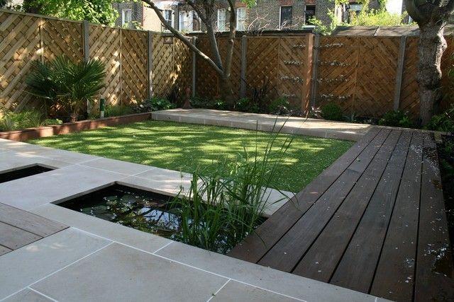 petit jardin moderne structures rectangulaires - Jardin Moderne