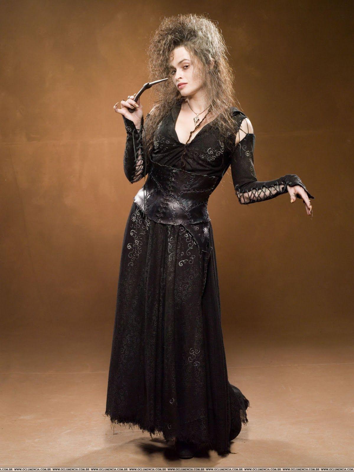 Harry Potter Bellatrix Bella Lestrange Black Dress Cosplay Costume Party Dress