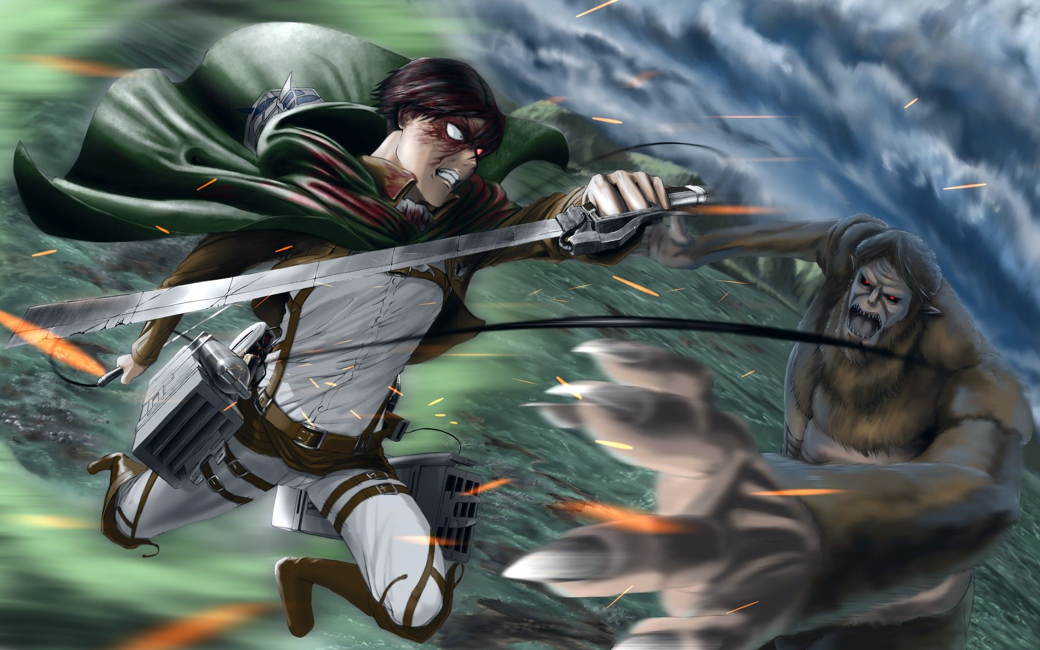 Pin By Rina On Wallpapers Landscape Attack On Titan Art Attack On Titan Attack On Titan Levi