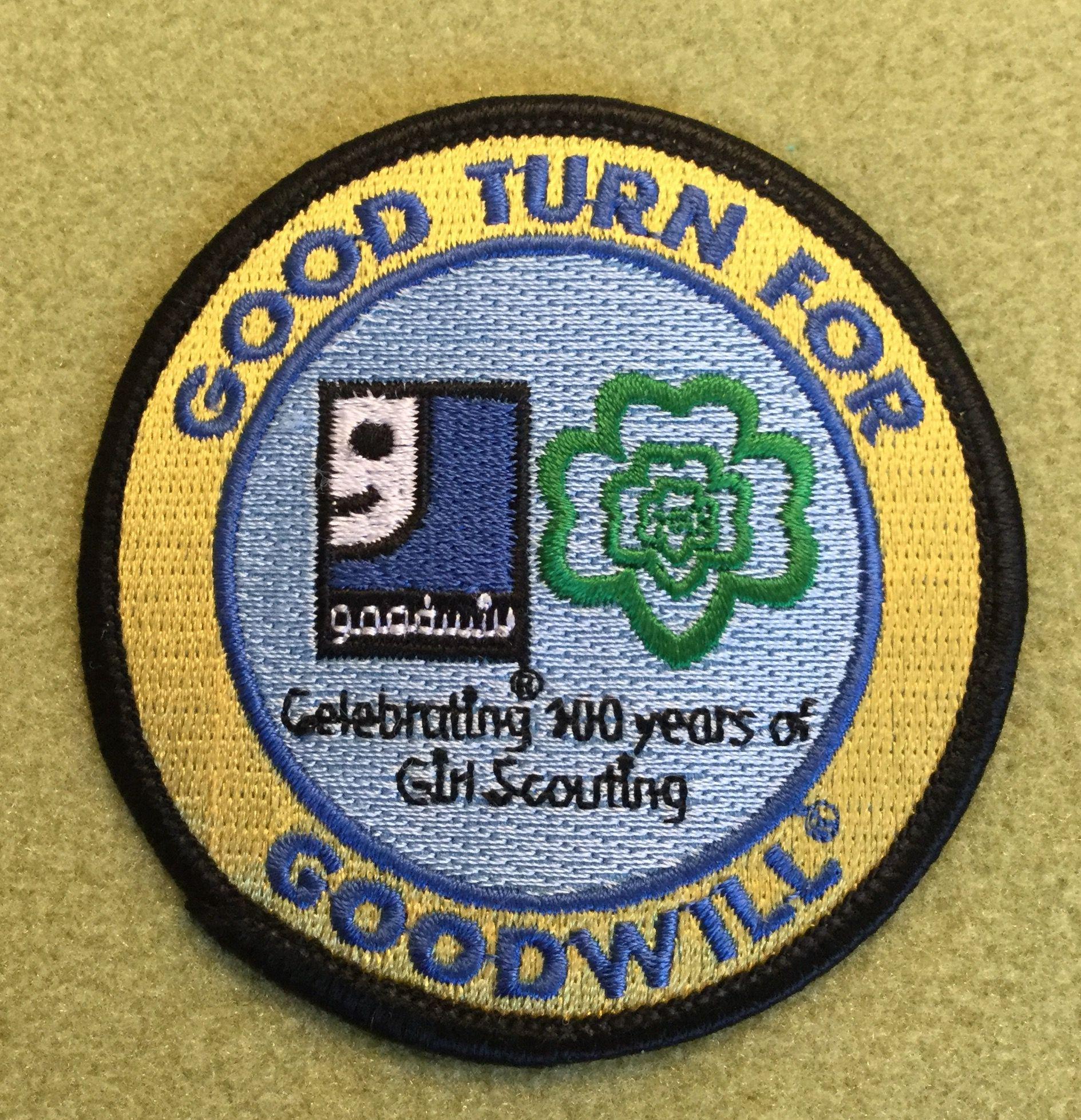 Girl Scouts Kentuckiana 100Th Anniversary Patch Good Turn -4049