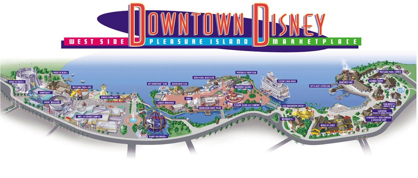 Downtown Disney Review | Disney | Disney map, Downtown disney ... on