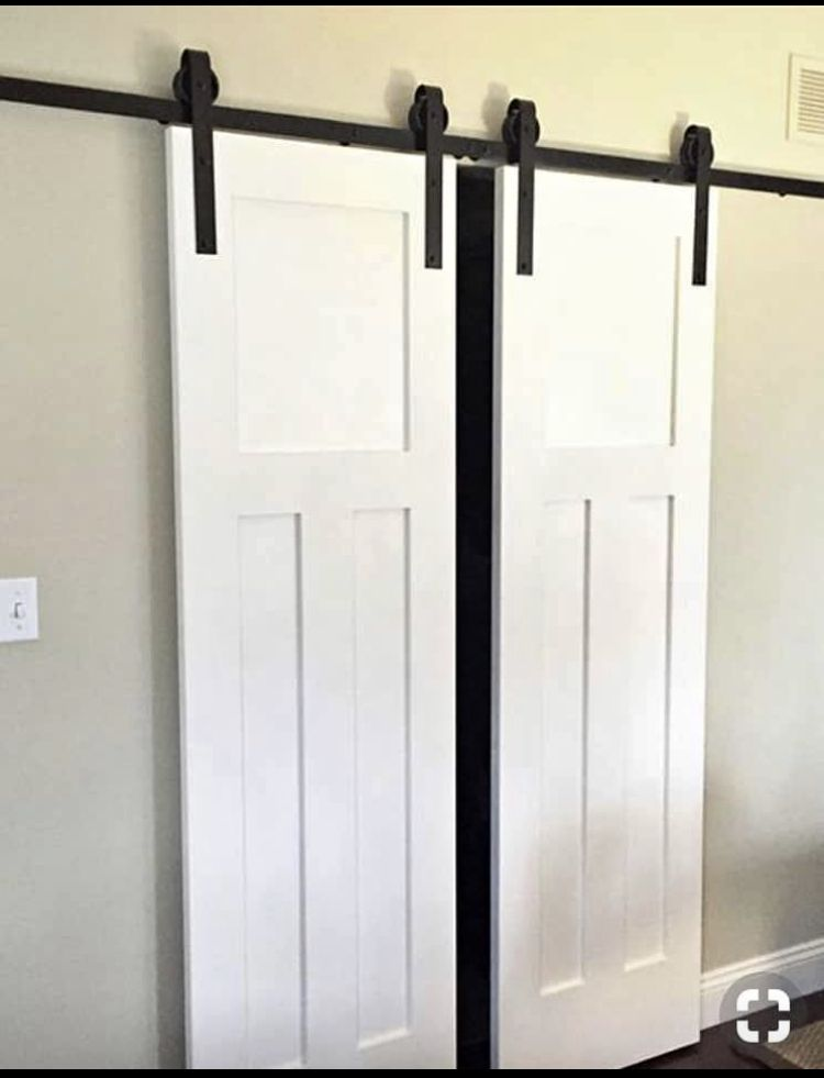 Pin By Robyn Woods On House Barn Doors Sliding Double Sliding Barn Doors Barn Door Closet