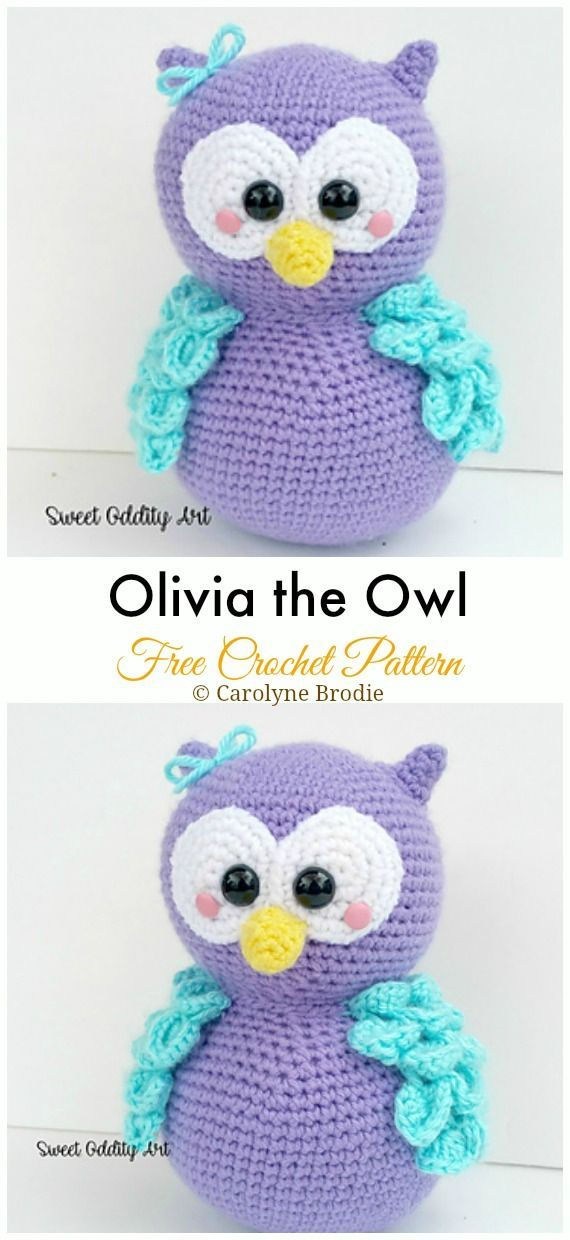 Amigurumi Crochet Owl Free Patterns Instructions - Monique Verö #amigurumicrochet