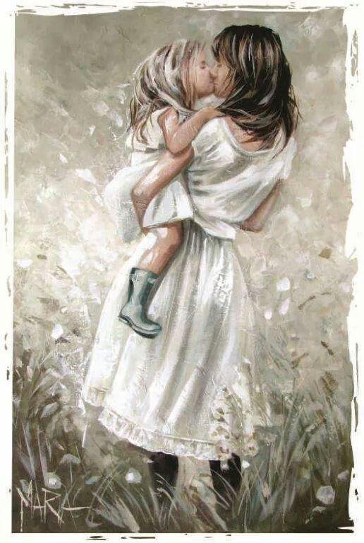 """Скрапбукинг, рукоделие, Картинки для детских работ """"Мама и ..."""