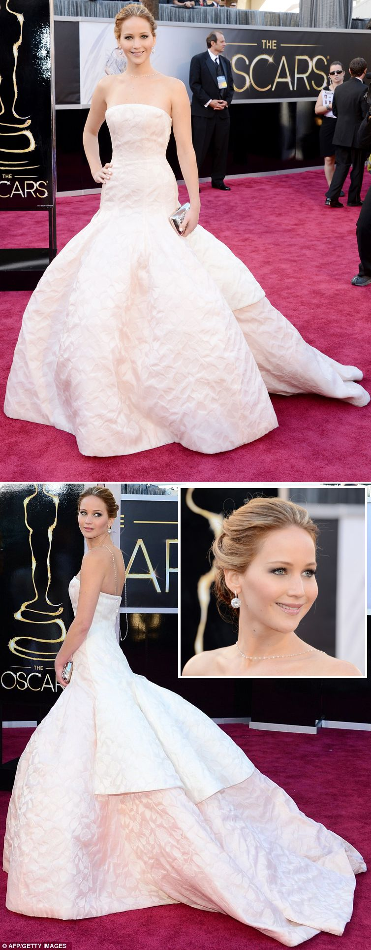 Jennifer Lawrence in Dior Haute Couture at the 2013 ...
